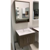 Quality Contemporary Plywood Square Sinks Bathroom Vanities Natural Wood Color wholesale
