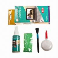 Quality Computer Cleaning Supplies with Cleaning Fluid, Wool Brush, Rags and Blowing wholesale
