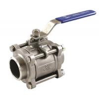 Quality 3PC ball valves stainless steel threaded/socket weld/butt weld connection wholesale