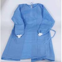 Quality Blue One Piece Hospital Isolation Gown Good Toughness High Durability Not Easy Aging wholesale