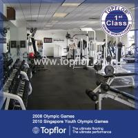 China Gym Rubber Floor Covering Gym Floor Tiles on sale