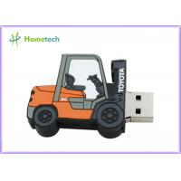Quality Forklift Style 64g Customized Usb Flash Drive / Pen Drive Usb 2.0 Support Windows ME / XP wholesale