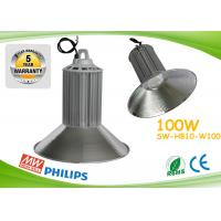 Quality PF0.98 100w Led High Bay Lights CE ROHS Aluminum Heat Sink With Copper Pipe wholesale