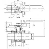 drawing for Stainless steel ball valve