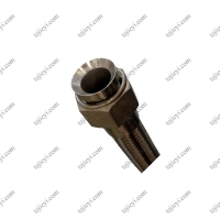 Quality High temperature steam flexible metal braided hose with bell mouth internal thread connection is used in printing and dy wholesale