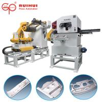 China Metal Decoiler Straightener Press Feeding Equipment Hydraulic Cutter Hold Down Device on sale