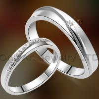 China fast delivery fashion valentine gift couple ring on sale