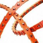 Quality High Performance Polyester Link V Belt Red Color Minimized Maintenance Time wholesale