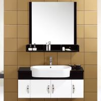 Quality 16mm solid wood small Floating Bathroom Vanities customized Dimenstions single sink cabinet wholesale