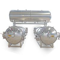 Quality 2 Autoclaves Parallel with Water Tank for Packaged Food & Canned Food wholesale