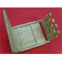 wooden cheese board with wire cutter