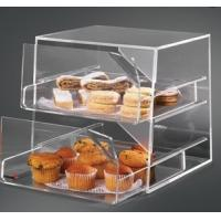 Quality 2 Tier Acrylic Bakery Display Case , Perspex Food Display Cabinets wholesale