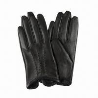 Quality Leather gloves with point stitching wholesale