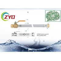 Quality Silver Color Faucet Braided Hose With Push Fit Isolating Valve Eco Friengly wholesale