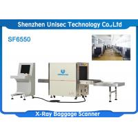 Quality SF6550 X Ray Baggage Scanner For Parcel Check , 40AWG Wire Resolution wholesale