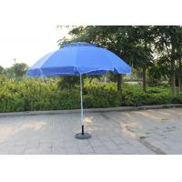 Quality Waterproof Movable Round Outdoor Umbrella , Blue Outdoor Market Umbrella wholesale