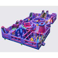 Quality Giant Bouncy Indoor Inflatable Obstacle Course Juego Jockey / Blow Up Amusement Park wholesale
