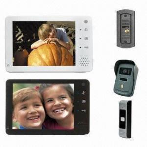 China 7-inch Handsfree Color Video Door Phone/Video Intercom System, Weather-/Vandal-resistant Camera on sale