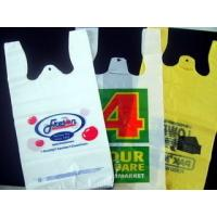 Quality Recycled Custom Plastic Grocery Bags With Handles Eco Friendly Multi Colored wholesale