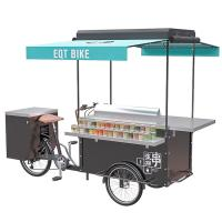 Quality Customization accepted BBQ cart barbecue grill outdoor food bike wholesale