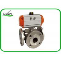 Quality Light Weight Sanitary Ball Valves Aluminum Pneumatic Actuator , Flanged Connection End wholesale