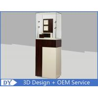 Quality Custom Wooden Coating Jewelry Tower Showcases With LED Light Brown Color wholesale