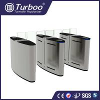 Quality 1.5mm SUS 304 brushed motor driven acrylic sliding gate with 5 pairs of infrared sensor wholesale