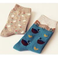 China cotton young women tube socks on sale