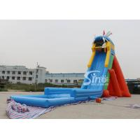 China China extreme giant adults hippo inflatable slide with pool ended for sea shore water park on sale