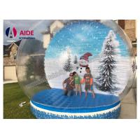 Quality Winter Air Snow Globes Stand Inflatable Holiday Decor inside Transparent Snow Balloon wholesale