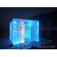 Cheap oxford fabricbigger size 3mL x3mW x2.4m H led lighting inflatable photo booth for sale