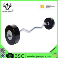 Quality Rubber Covering Fitness Equipment Barbells With Chromed Steel Handle wholesale