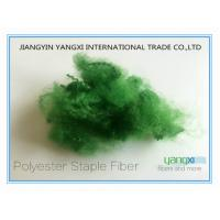 Quality Bandera Color Polyester Fiber / Spinning Dyed Fiber With PET Flake Material wholesale