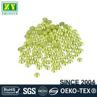 Quality High Color Accuracy Flat Back Metal Studs Good Stickness With Even Shinning Facets wholesale
