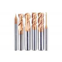 China HRC65 Carbide 2 Flutes Ball Nose End Mill With Nano Coating Tungsten Carbide End Mill on sale