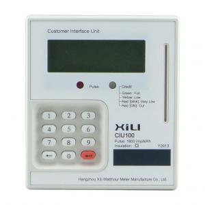 Buy cheap RS485 Single phase electronic Prepaid energy meter , Intelligent kilowatt hour meter product
