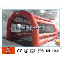 Quality Red Inflatable Batting Cages For Adults Baseball Games 25Feet wholesale
