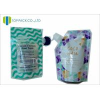 Quality Custom Made Plastic Standing Spout Pouch , Zipper Closure Liquid Pouch Packaging Food Use wholesale