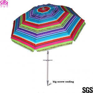 Quality Popular Foldable Sun Beach Umbrella 1.8m / 2.2m For Summer Swimming wholesale