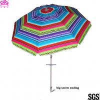 Buy cheap Popular Foldable Sun Beach Umbrella 1.8m / 2.2m For Summer Swimming from wholesalers