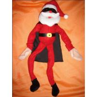 Quality Soft Velboa Customized Plush Toy Cool Santa Claus with Sunglasses Size 15cm to 50 cm wholesale
