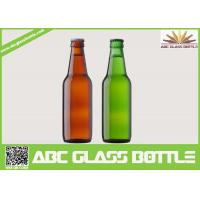 Cheap Fancy Summer Promotion With Screw Top Beer Glass Bottles,Amber and Green beer glass bottle for sale