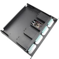 Quality 1U Fiber Optic Distribution Frame MPO / MTP male - LC multi mode OM3 1 meter wholesale