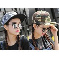 Quality Cool Custom Caps Hats Embroidery / Camouflage Hip Hop Cap For Girls wholesale
