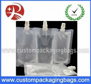 Quality Transparent Stand Up Pouches With Spout Top , Clear spout pouches wholesale