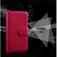 Quality Wrist Strip Leather Iphone 7 Wallet Case , Slim Crazy Horse Leather Wallet Case wholesale