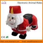 Quality Santa Claus Electronic Walking Animal Rides Games Machine for Christmas Amusement Park wholesale