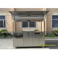 Buy cheap Food Grade 304 Stainless Steel Coffee Cart Mobile Stainless Steel Food Kiosk product