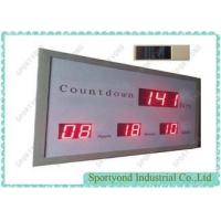 Quality Electronic Led Digital Clock Display With Count Down Times , Aluminum Housing wholesale