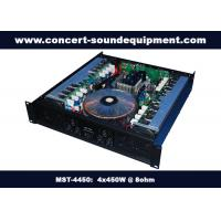 Quality Pub , Church , School Conference Sound Equipment Class AB 4 X 450W Analogue Amplifier wholesale
